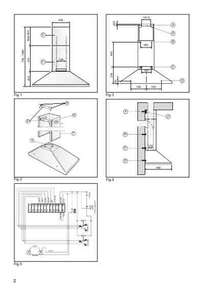belling cooker hood installation instructions